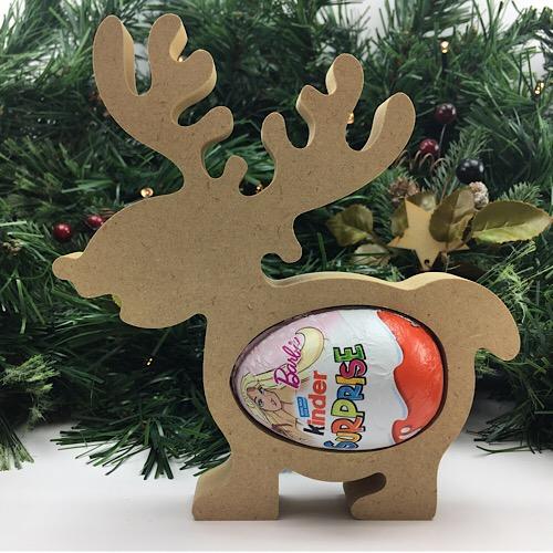 Cute Kinder Egg Holder - Reindeer Freestanding MDF