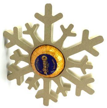Chocolate Orange Holder Snowflake Freestanding MDF Pack of 10