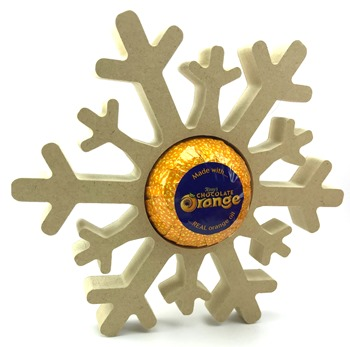 Chocolate Orange Holder Snowflake Freestanding MDF Pack of 10