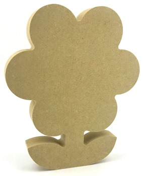 Freestanding 18mm MDF Flower With Leaves