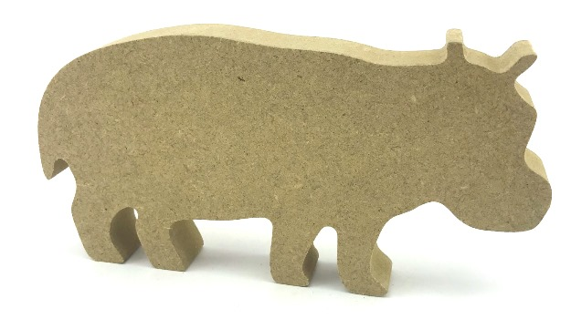 Freestanding 18mm MDF Hippopotamus