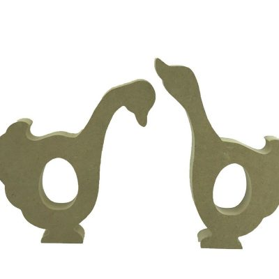 Creme Egg Holder Mother Goose Style Geese Freestanding MDF Set of 2