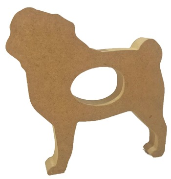 Creme Egg Holder Pug Dog Freestanding MDF Pack of 5