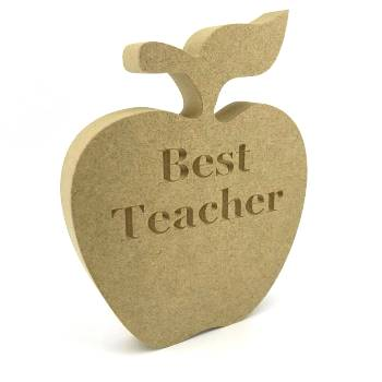 Best Teacher Apple 15cm Freestanding 18mm mdf Engraved