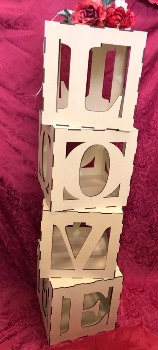 LOVE MDF Cubes For Weddings etc