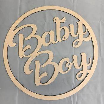 Baby Boy MDF Large Hoop Ring