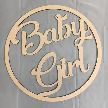 Baby Girl MDF Large Hoop Ring