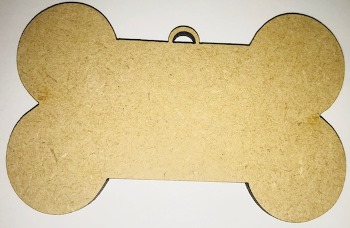 Dog Bone Mdf Christmas Bauble 20cm