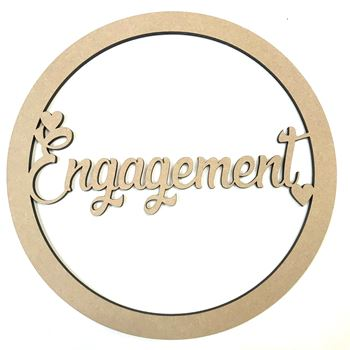 Engagement MDF Hoop Ring