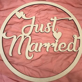 Just Married MDF Hoop Ring