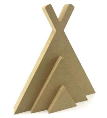 Stacking Teepee Wigwam 18mm MDF Freestanding 15cm