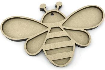 Bee 2 Piece MDF Craft Kit 7.5cm
