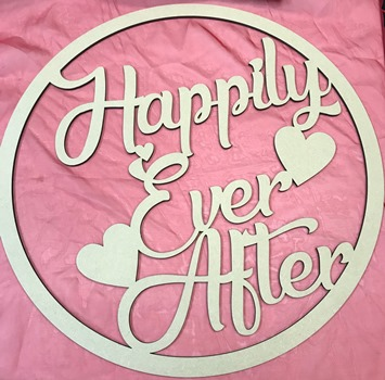Happily Ever After Wedding MDF Hoop Ring