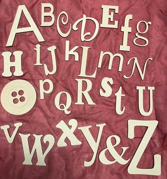 Mixed Font 6mm MDF Alphabet Wall Art