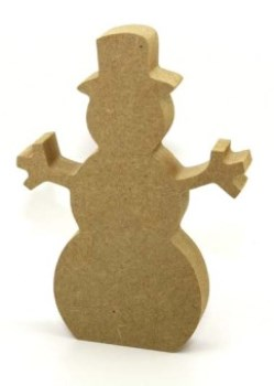 18mm MDF Snowman Freestanding 12cm