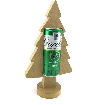 Slim Can Holder Christmas tree 18mm Freestanding MDF
