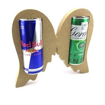 Slim Can Holder Angel Wings 18mm Freestanding MDF