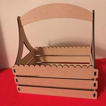 MDF Basket Crate With Wavy Edge