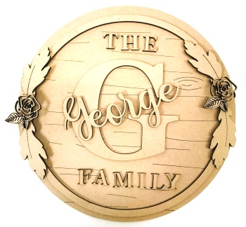 Personalised MDF Family Plaque Sign