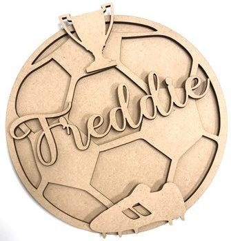 20cm Football Personalised Sports MDF Plaque Sign